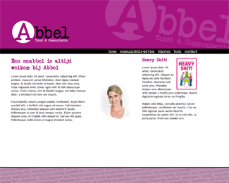 website Abbel tekst en communicatie gemaakt door Flash3000 Productions
