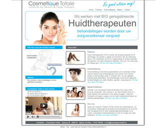 website Cosmetique Totale gemaakt door Flash3000 Productions