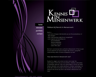 website Kennis In Mensenwerk gemaakt door Flash3000 Productions
