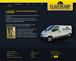 website Klaverkamp sloop