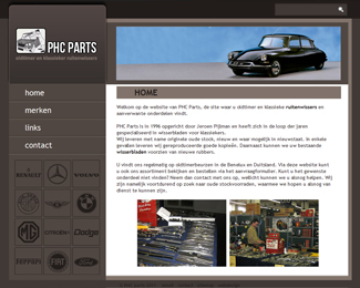 website PHC parts gemaakt door Flash3000 Productions