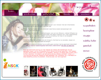 website PimpedbyRoos van Roos Prommenschenckel voormalig Miss Nederland gemaakt door Flash3000 Productions