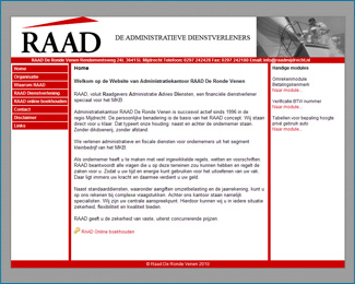 website Administratiekantoor RAAD De Ronde Venen gemaakt door Flash3000 Productions