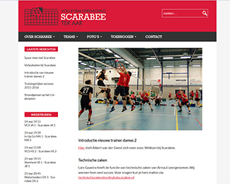 website Volleybalvereniging Scarabee