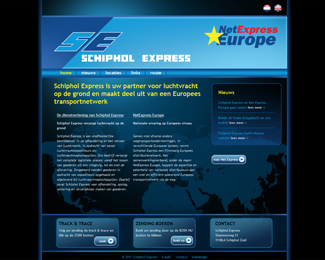 website Schiphol Express gemaakt door Flash3000 Productions