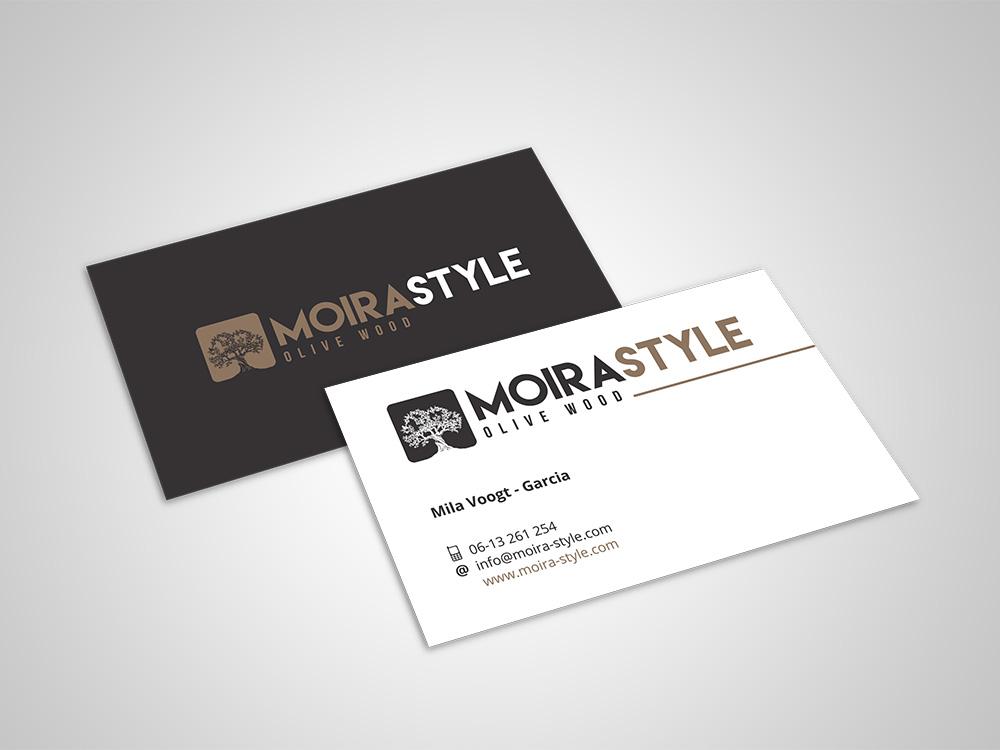 Visitekaartjes Moira style